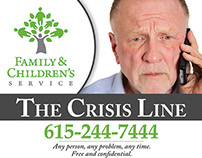 FCS - Crisis Line Simple Advertisement Design