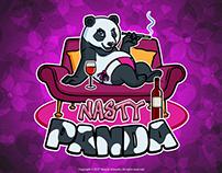 Nasty Panda Cartoon Logo