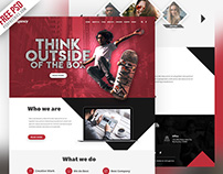 Free PSD : Agency Creative Website Template PSD