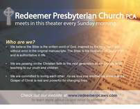 Redeemer Theater Ad
