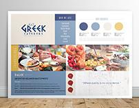 Eat Greek Brand Poster