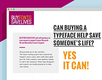Buy Fonts Save Lives website design