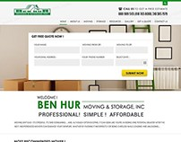 Website for Company Providing Moving & Storage Services