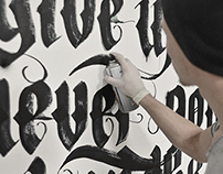 CALLIGRAPHY ON THE  WALL