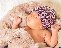 foto estudio de Isabel, 1 mes de nacida :)