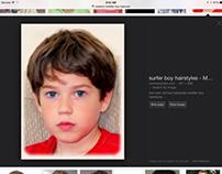 Medium hair children ( boy)