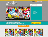 Web Design Freebies - Sticker Selling Website