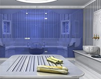 Hammam and Steam room  3d Project