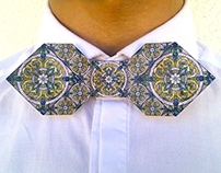 Stained glass Origami Bow Tie