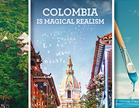 COLOMBIA: MAGICAL REALISM POSTER