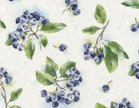 Ashberry watercolor pattern