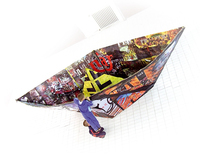 Graduate work - boat made of paper, origami