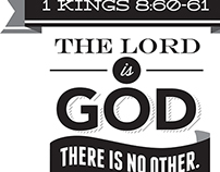 Typographic Verse - 1 Kings 8