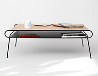 Coffee table  Iron & wood series