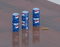 Pepsi cane model and render in mental ray