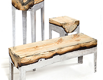 """Wood Casting"" Furniture by Hilla Shamia"