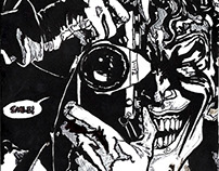 Hand drawn pen and ink 'Batman: The Killing Joke'