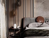 BEDROOM interior design and vizualization