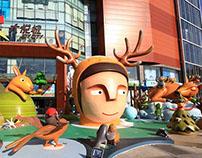 Building a magical Christmas - Beijing Joy city Center