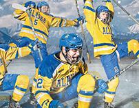 2018-19 Alaska Nanooks Hockey Team Schedule Poster