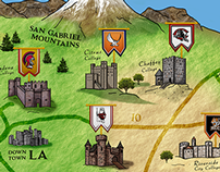 CA Community College Football Medieval Map