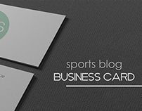 Sports Blog Business Card