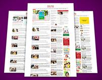 Website Newspages - Responsive