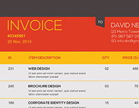 Business Invoice Template PSD