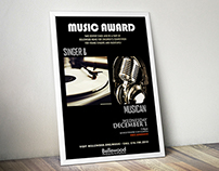 Music Award Poster
