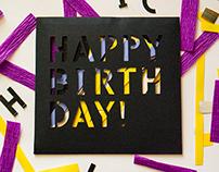 Birthday card. Shake it!