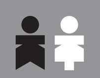 Toilet pictograms