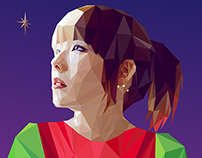 Low poly Illustration-aiko