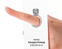 Business card for a jeweller