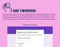 Entrevista com usuários para Annefreitas