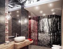 Oriental style bathroom 01