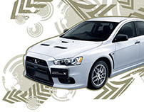 Mitsubishi Lancer Evolution desktop wallpaper