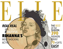 ELLE MAGAZINE COVER REDESING