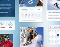 Snow Flakes UI Kit