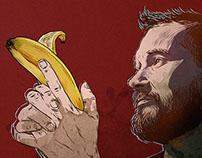 Banana gun. Selfportrait
