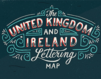 Great Little Place -  Britain & Ireland Lettering Map