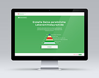 Lebensmittelpyramide WebApp Design