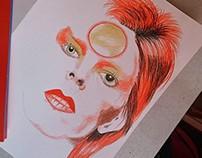 Rediagramação analógica do flyer David Bowie | MIS