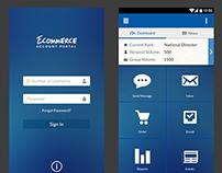 Ecommerce Account Portal App