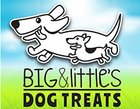 Big & Little's Dog Treats - Logo Design