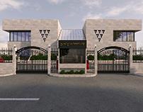 Design the admin. building for Al Jomaih Com in ksa