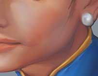 Woman With A Pearl Earring (Street Fighter II)