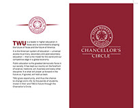 TWU Chancellor's Circle brochure