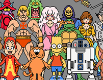 80s Cartoons 1/40 Scale Pixel Character Lineup