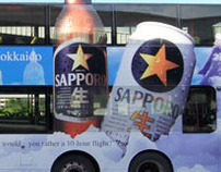 Sapporo Beer Bus Ad