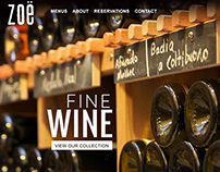 Restaurant Zoe Web Design & Graphics - Class Project